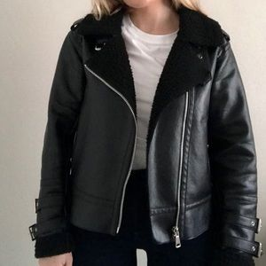 Silence and Noise faux leather jacket
